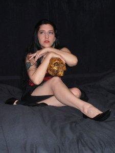 Briana with skull