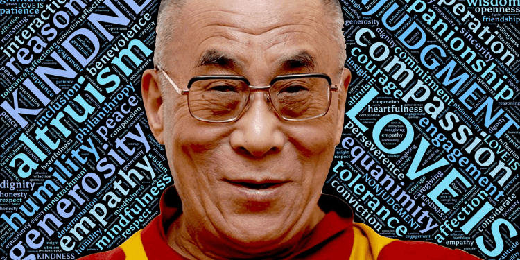 dalai lama holiness buddhist religion spiritual person man