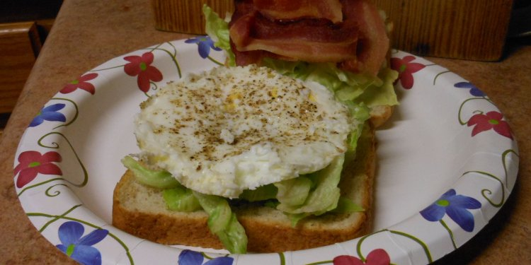 Bacon Lettuce Egg Sandwich Food