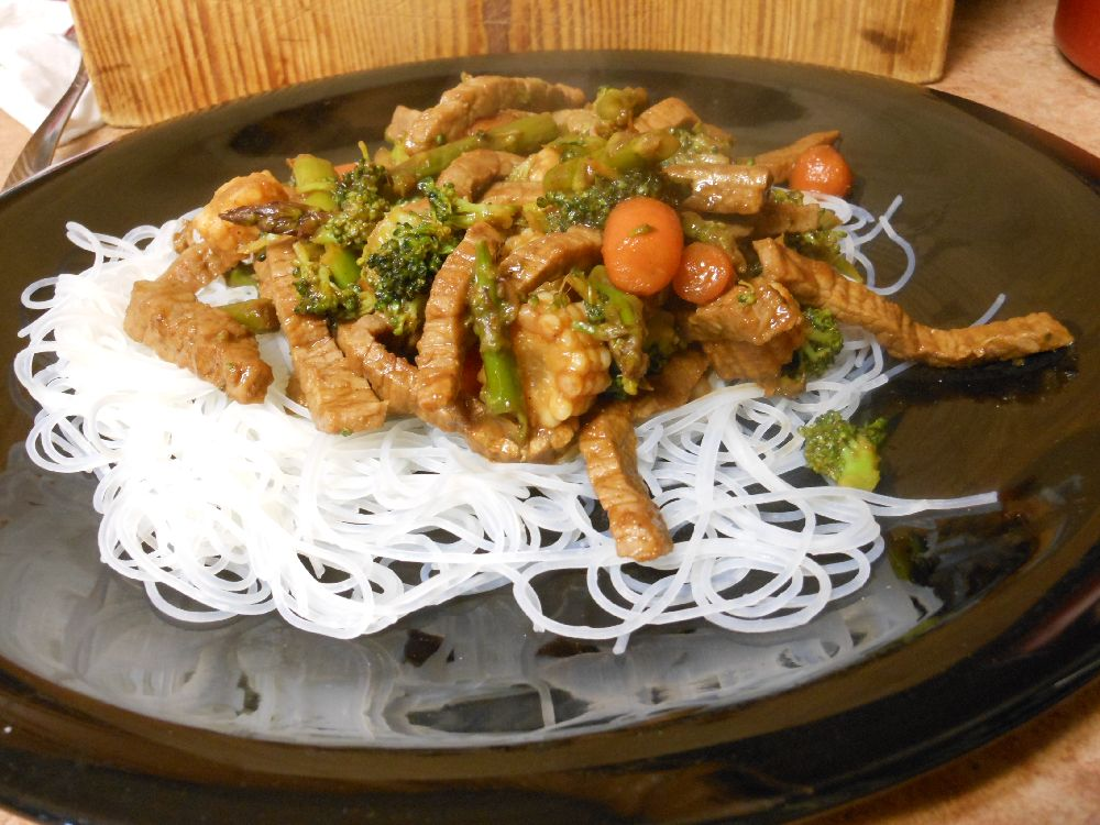 Beef Stir Fry Rice Noodles Food Image: © Briana Blair