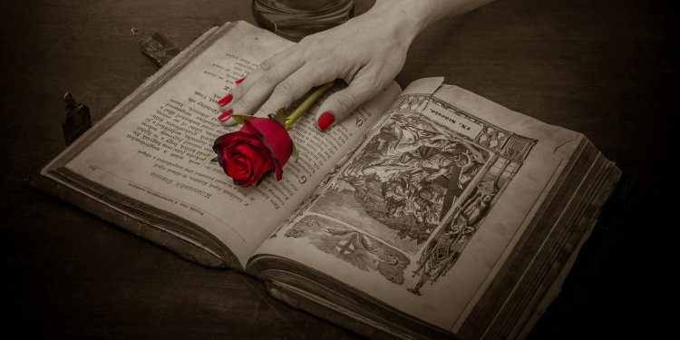 Book Rose Hand - Image; Public Domain, Pixabay