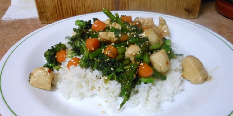 Chicken Stir Fry Vegetables Rice Food - Image: © Briana Blair