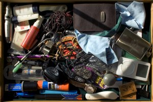 Cluttered Drawer