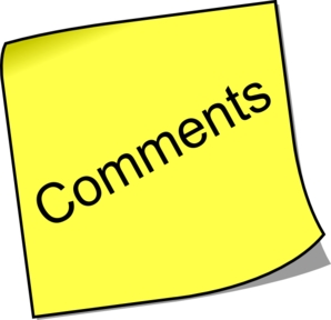 Comments Yellow Sticky Note