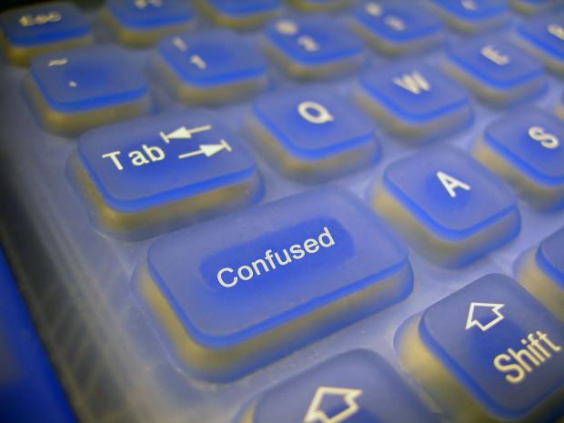 Computer Keyboard Confused - Image: Public Domain, Morguefile