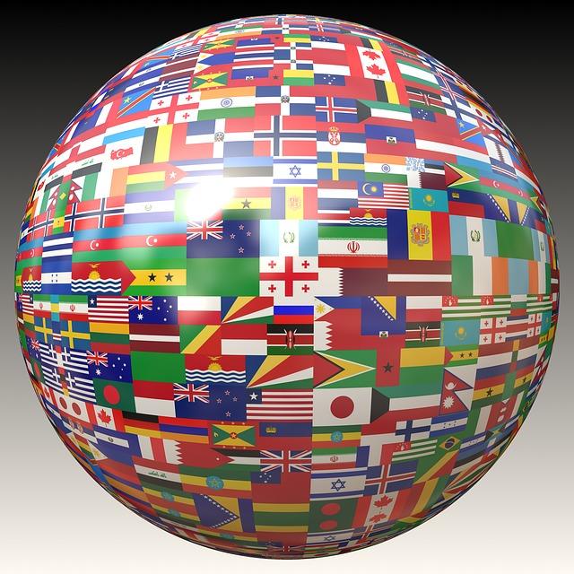 Globe Flags - Image: Public Domain, Pixabay