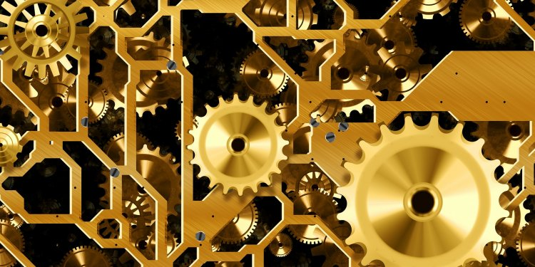 Gold Gears - Image: Public Domain, Pixabay