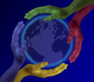 Hands Earth Helping World