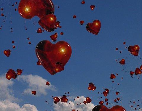 Love Hearts Sky Image: Public Domain, Pixabay