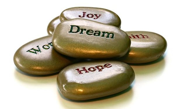 Message Stones dream hope words morg