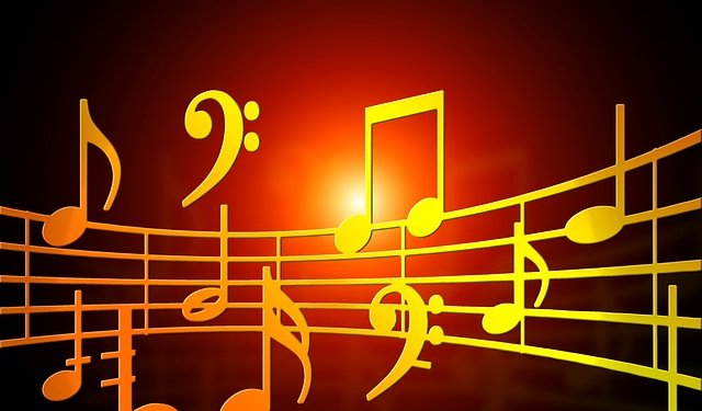 Music Notes Orange - Image: Public Domain, Pixabay