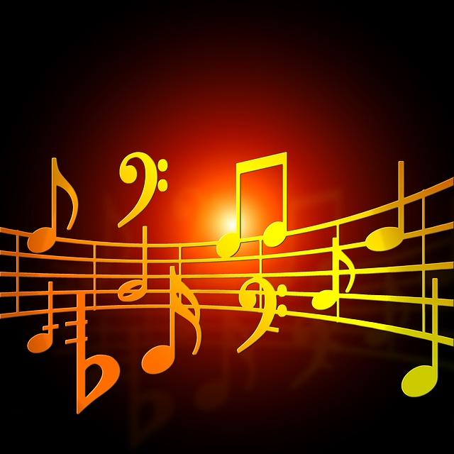 Music Notes Orange - Image: Public Domain, Pixabay