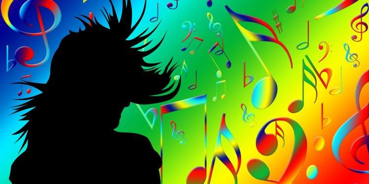 Music Notes Rainbow Silhouette Image: Public Domain, Pixabay