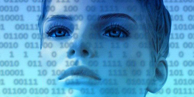 Person Binary Face Code Woman Mannequin - Image: Public Domain, Pixabay