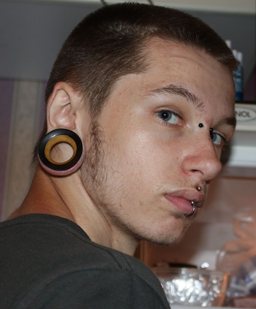 Piercings Man Face Image: Public Domain, Wikimedia Commons