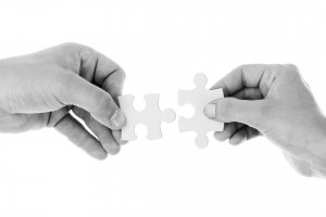 Puzzle Pieces Hands Together - Image: Public Domain, Pixabay