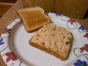 Image: © Briana Blair - Shrimp salad sandwich