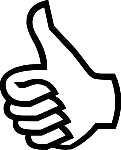 Thumbs Up Hand Ok Good - Image: Public Domain, Clker