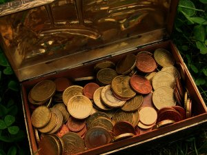 Treasure Chest Money Gold Coins
