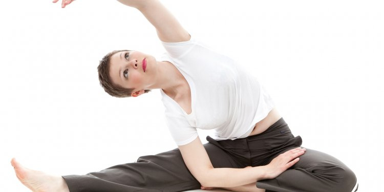yoga fitness stretch woman health exercise