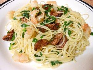 Andouille Shrimp Pasta Food