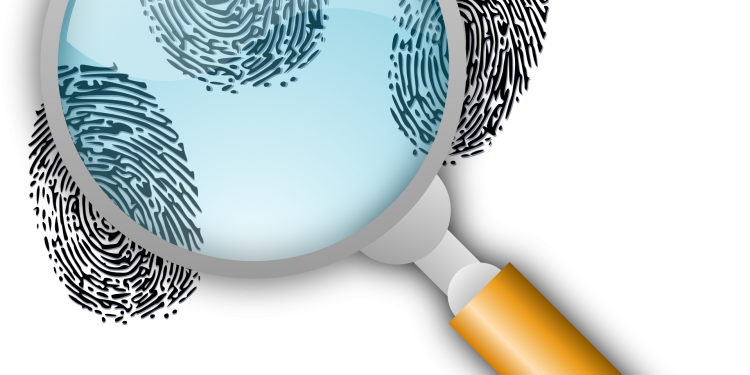 Finger Prints Magnifying Glass