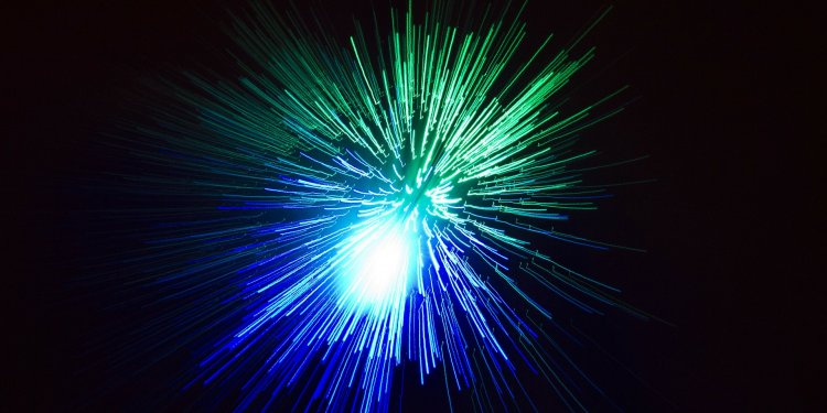Fireworks Blue Green