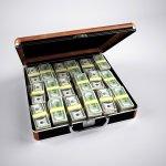 Money Cash Wealth Briefcase