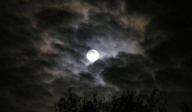 Moon Night Clouds Sky - Image: Public Domain, Pixabay