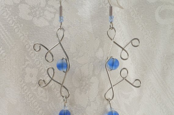 Elvalien Blue Twist Earrings - Image: © Briana Blair