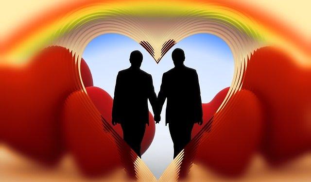 Gay Men Love Hearts LGBT - Image: Public Domain, Pixabay