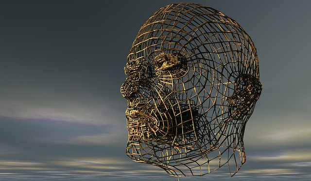 Wire Frame Head Sky - Image: Public Domain, Pixabay