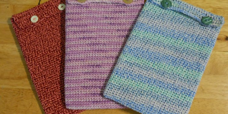 Crocheted Tablet Cases - Image: © Briana Blair