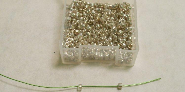 Galvaized Silver Beads - Image: © Briana Blair