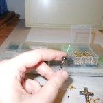 Hematite and Gold Crucifix Set WIP 2 - Image: © Briana Blair