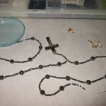 Hematite and Gold Crucifix Set WIP 3 - Image: © Briana Blair