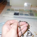 Hematite and Gold Crucifix Set WIP 4 - Image: © Briana Blair