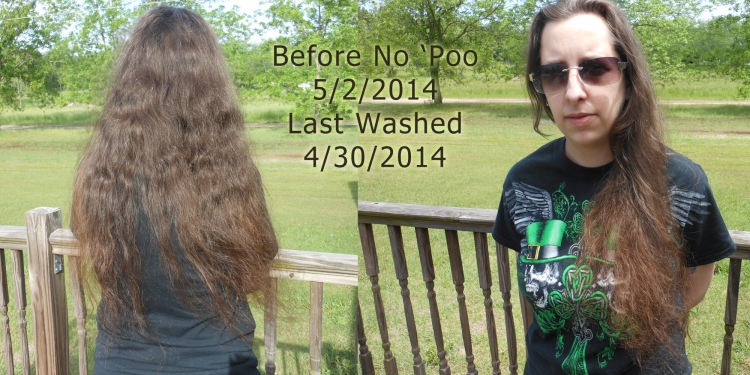 No Poo Hair Day 1 - Image: © Briana Blair