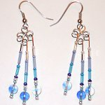 Blue Dangle Earrings - Image: © Briana Blair