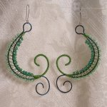 Green Weave Earrings - Image: © Briana Blair