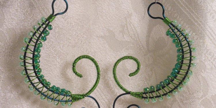 Green Weave Earrings - Image: © Briana Blair