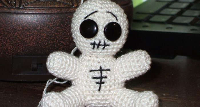 Amigurumi Skeleton Voodoo Doll - © Briana Blair