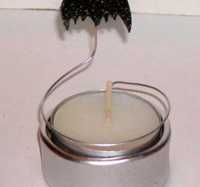 Bat Candle Silver Halloween - © Briana Blair