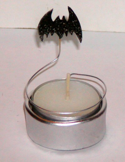 Bat Candle Silver Halloween - © Briana Blair