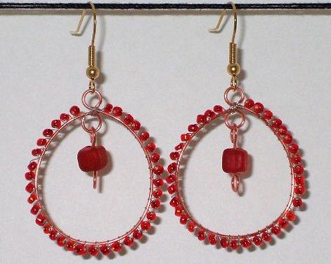 Bead Wrapped Hoop Earrings Jewelry - © Briana Blair