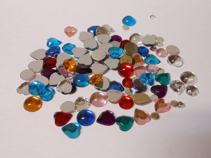 Craft Supplies Acrylic Gem Stones - © Briana Blair