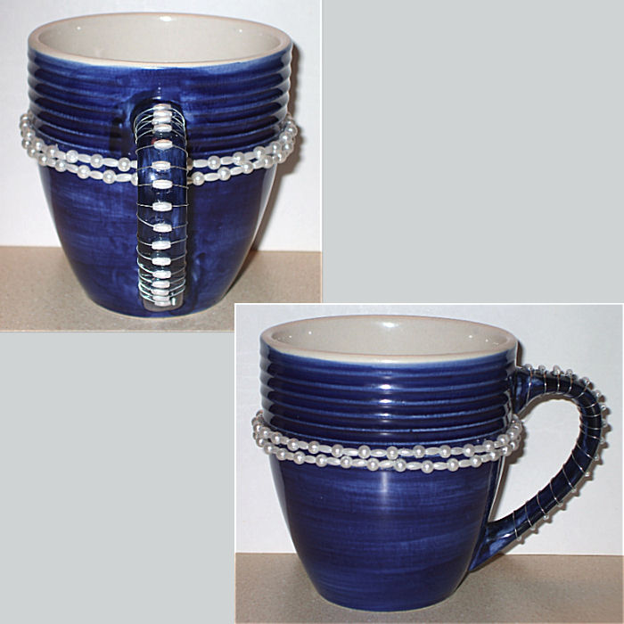 Decorated Coffee Mug Craft Blue - © Briana Blair