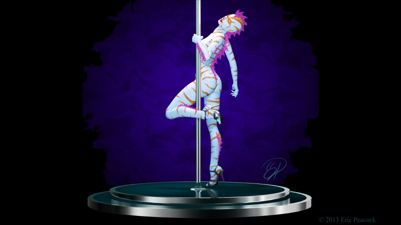 mermaid pole dancer pinup ghoul