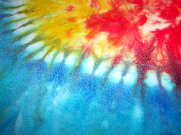 Random Tie Dye Rainbow Fabric - Image: Public Domain, Morguefile