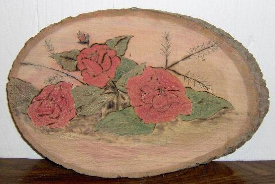 Wood Burned Rose Flower - © Briana Blair